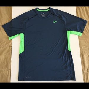 Nike Dri-Fit Navy Athletic Fitness T-Shirt Large